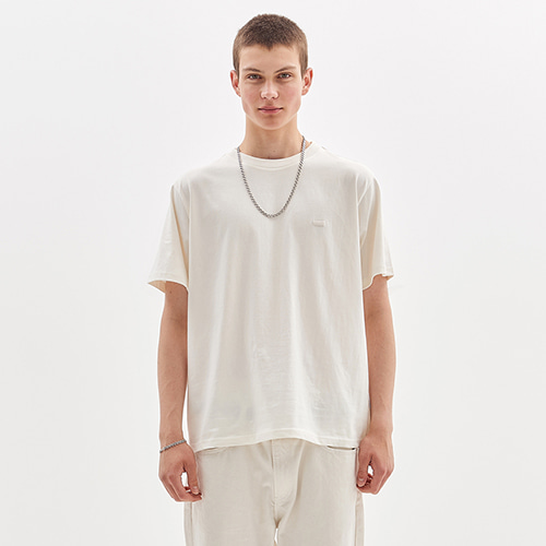 BOX LOGO EMBROIDERED T-SHIRT_WHITE IVORY
