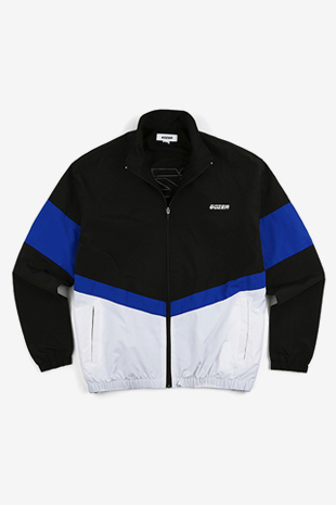 ZIP UP TRACK TOP_BLACK&BLUE