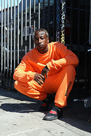 LEG LOGO SWEAT PANTS_ORANGE