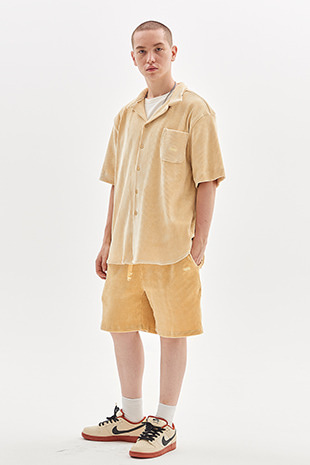 CORDUROY HALF PANTS_LEMON