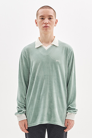 VELOUR COLLAR T-SHIRT_MINT