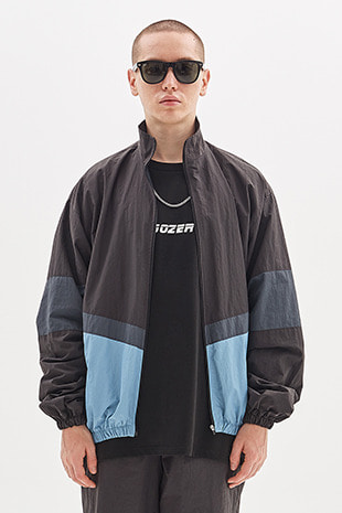 ZIP UP TRACK JACKET_BLACK&BLUE